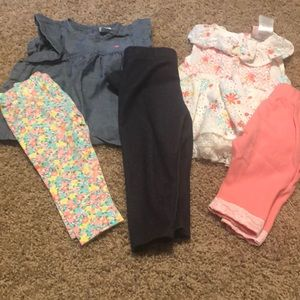 Other - EUC girls shirts with leggings